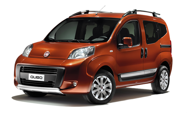 Fiat Qubo - Funky Orange - Front / Left Side View